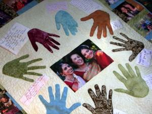 handprint quilt by stringbean17
